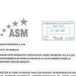 El grupo municipal de la A.S.M. en el Ayuntamiento de Manilva presenta solicitud de Pleno Extraordinario y Urgente para aprobar Manifiesto a favor de la Constitución y de la unidad de España