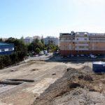 La obra de urbanización para nuevos aparcamientos y viales en el sector norte de Huerta Nueva supera el ecuador