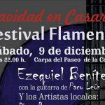 El cantaor Ezequiel Benítez  encabeza  este sábado el cartel del Festival Flamenco Casares en Navidad