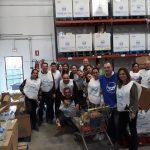 Hidralia, Aguas de Benahavís y Aguas de Torremolinos, donan 1.250 kilos de comestibles al Banco de Alimentos