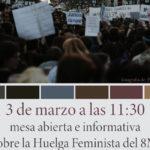 La Asociación de Mujeres Peñas Blancas de Estepona realiza una mesa abierta e informativa con motivo del día 8 de marzo