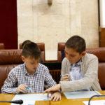 Pleno infantil de Aldeas Infantiles SOS en el Parlamento de Andalucía