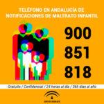 El Teléfono de Notificación la Junta ante posibles situaciones de Maltrato Infantil de Andalucía recibió 4.450 avisos durante 2017