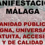 Profesionales, sindicatos, pacientes y vecinos hacen un llamamiento a la población ante la manifestación por la dignidad de la sanidad pública