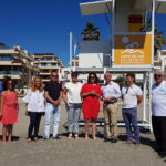 La Mancomunidad instala cinco torretas de vigilancia en las playas de Manilva