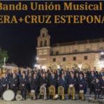 Concierto de la Banda Unión Musical Vera+Cruz Estepona en la Plaza Antonia Guerrero