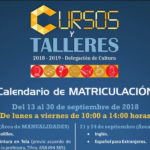 Estepona abre la inscripción en  los Cursos y Talleres de Cultura 2018-19 con 2.000 plazas