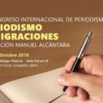 La Fundación Manuel Alcántara celebra el VI Congreso Internacional de Periodismo centrado en 'Periodismo y Migraciones'